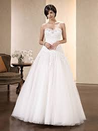 beaded applique strapless white ball gown tulle long wedding dress