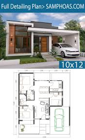 100 Modern House 3 Bedrooms Home Design Plan 10x12m S Simple