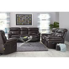 Bobs Furniture Leather Sofa And Loveseat by Living Room Double Recliner Sofa Loveseat Reclining And Modern