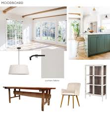 Emily Henderson New House Modern English Cottage Updates Dining Room Final Full Moodboard 1