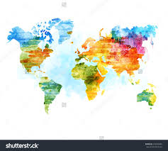 Stock Vector World Map Watercolor Illustration 247966885 At