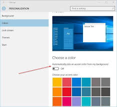 Change The Color Of Taskbar In Windows 10 Step3