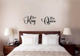 Indie Room Decor Ebay by Her King His Queen Love Vinyl Decal Wall Decor Sticker Words