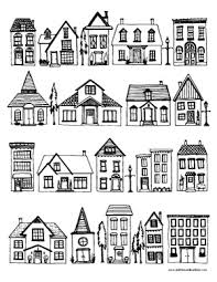 Free Houses Coloring Page And Printable