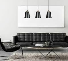 hängeleuchte schwarz 3 flmg metall skandinavisches design pendelleuchte esstisch