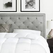 amazon com brookside upholstered headboard with diamond tufting