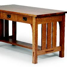 free plan arts and crafts library table finewoodworking