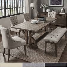 Paloma Salvaged Reclaimed Pine Wood 6-Piece Rectangle Dining ...