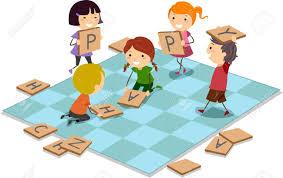 1791 Board Games Kids Stock Illustratio