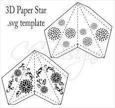 Paper Star Lantern SVG Cut Files DIY 3D Stars Decor Party Decorations Wedding