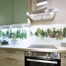 eine nischenrückwand mit kräutermotiv passt in jede küche