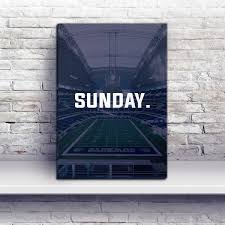 Dallas Cowboys Home Decor by Dallas Sunday Football Premium Canvas Wraps Dallas Gifts Canvas