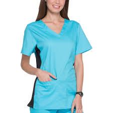 Ceil Blue Scrub Sets by Scrubstar Women U0027s Premium Collection Flexible V Neck Scrub Top
