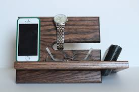 Mens Dresser Valet With Charger by Large Wallet Model A Night Stand Oak Wood Valet Iphone Galaxy