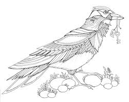 Birde Forest Coloring Pages