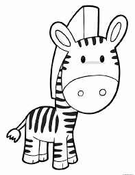 Download Coloring Pages Zebra Ba 2375 Drawing