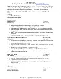 Professional Mental Health Case Manager Resume Sample Cover Letter Forse Worker Resumes