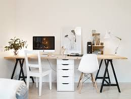planche pour bureau idée un bureau sur tréteaux 12 inspirations et une selection
