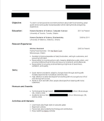 Sample Resume For Curriculum Vitae Waitress No Experience Objective Job Example Of A First Description Tips