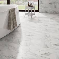 somertile 8 625x9 875 inch marmol carrara hex porcelain floor and