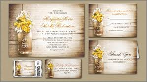 Yellow White Mason Jar Wedding Stylish And Rustic Invitations
