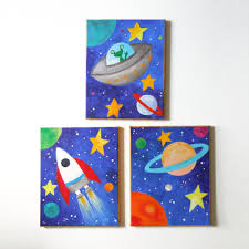 Pottery Barn Baby Wall Decor by Planet Themed Nursery Of 3 8x10 Acrylic Canvases Space