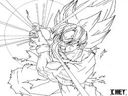 Dbz Coloring Pages Free Online Archives Best Of Goku