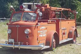 100 First Fire Truck Lumby Fire Truck Restoration Project Honours First Responders