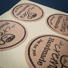 Craft Paper Stickers Custom Labels Brown Cafe Sticker