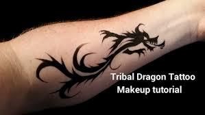 DIY Tribal Dragon Arm Tattoo Makeup Tutorial