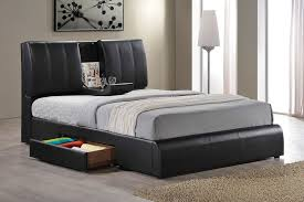 Contemporary Queen Bed Frame with Storage — Modern Storage Twin