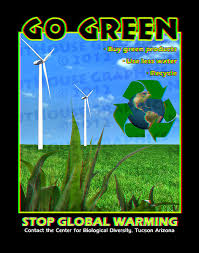 Go Green Poster 3D Project