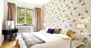 Bedroom Wallpaper Feature Wall Idea Pattern
