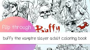 Buffy The Vampire Slayer Adult Coloring Book Flip Through