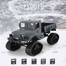 FY001B 2.4Ghz 1/16 4WD Off-road RC Caterpillar Military Truck ...