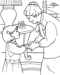 Kindness Is Talking Sofly To Grandmother Colouring Page Coloring