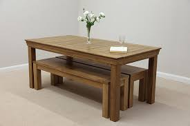Alluring Oak Benches For Dining Tables Table Treenovation