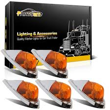 100 Truck Clearance Lights 5PCS Semitrailer Amber Cab Marker Roof Running