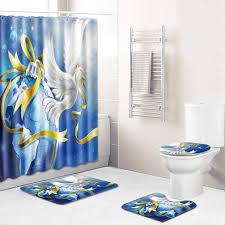 sentaoa badezimmer badematte 4 teilig set kürbisse