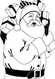 Santa Claus And Lots Of Christmas Gift For You Coloring Pages