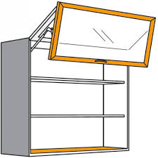 hängeschrank mit kombinierter falt lifttür und led glasbodenleuchte