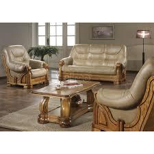 canapé cuir et bois rustique canape cuir et bois rustique maison design hosnya com