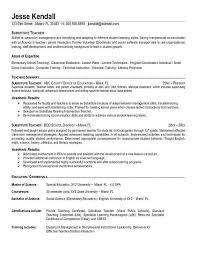 resume description of preschool objective for teaching resumes botbuzz co