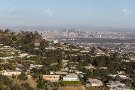 100 Hollywood Hills Houses Aerial View Of Homes With Downtown Los Angeles