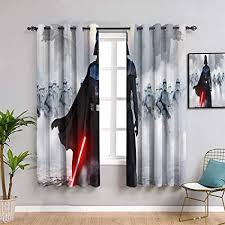 blackout curtains wars return of the jedi for child rooms room darkening wide curtains w72 x l63