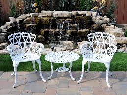 Cast Aluminum Patio Sets white aluminum patio chairs