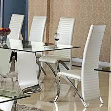 wohnen luxus esszimmerstuhl marta design kunstleder weiß stuhl stühle esszimmer esszimmerstühle weiss