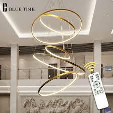 gold schwarz weiß kreis moderne led anhänger licht hause