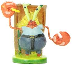 Spongebob Aquarium Decorating Kit by Amazon Com Penn Plax Mr Krabs Resin Ornament Aquarium Decor