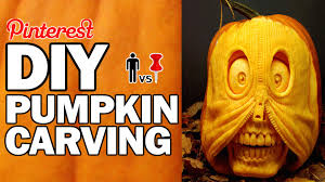 Best Pumpkin Carving Ideas 2015 by Diy Pumpkin Carving Contest Man Vs Corinne Vs Pin Youtube